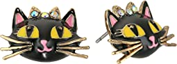 Betsey Johnson - Enchanted Forest Cat Stud Earrings