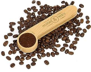 Maison & White Pince à café et cuillère 2 en 1 | Mesure de cuillère à soupe et pince à cacheter pour sac de café hermétiqu...
