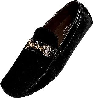 Men's Velvet Loafer Smoking Slipper Dress Shoe with Embellished Bit Style Piero