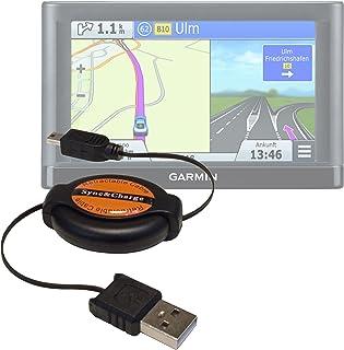 DURAGADGET Cable Mini USB Retráctil para GPS Garmin Nüvi 66LMT / 2699LMT-D / 56LMT / 2589LMT EU - Ideal para Conectar Su Dispositivo Directamente Al PC