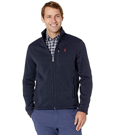 Polo Ralph Lauren Sweater Fleece Jacket (Winter Navy Heather) Men