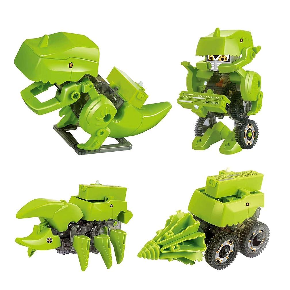 LSM store Children Assembled Electric Robot Model Toy Cartoon Creative Puzzle Dinosaur Building Block Vehicle