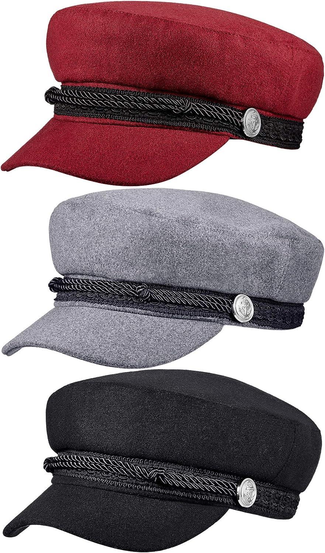 3 Pieces Women's Winter and Summer Stylish Newsboy Hat Beret Sunhat