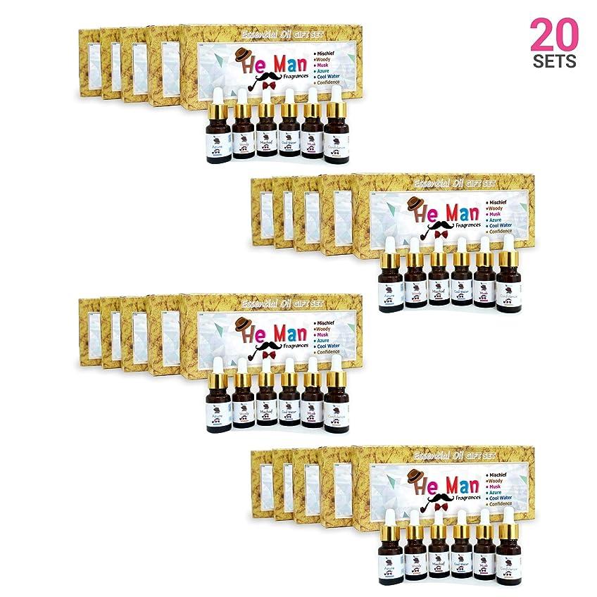 周波数一月散髪Aromatherapy Fragrance Oils (Set of 20)- 100% Natural Therapeutic Essential Oils, 10ml each (Mischief, Woody, Musk, Azure, Cool water, Confidence) Express Shipping