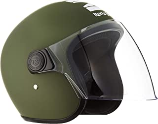 Royal Enfield Matt Battle Green Open Face with Visor Helmet Size (L)58 CM (RRGHEL000053)