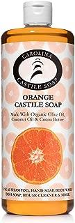 Carolina Castile Soap Orange w/Organic Cocoa Butter   Certified Organic 32 oz