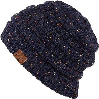 47fe2ae8afe4b Hatsandscarf CC Exclusives Unisex Ribbed Confetti Knit Beanie (HAT-33)  (Navy)