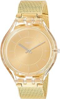 Swatch Skin Skincarat Gold Dial Stainless Steel Ladies Watch SVOK100M