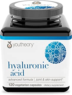 Youtheory Hyaluronic Acid Advanced with Boswellia, 120 Count (1 Bottle)
