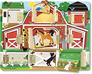 Melissa & Doug Hide & Seek Farm (Developmental Toys, Magnetic Puzzle Board, Sturdy Wooden Construction, 9 Pieces, Great Gift for Girls and Boys - Best for 3, 4, and 5 Year Olds)