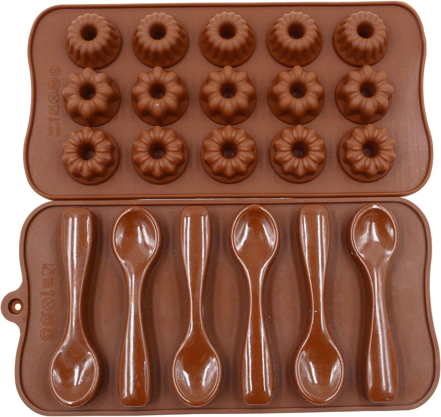 Spoon Silicone Mold-Cake Decoration Mold-Fondant Chocolate Mold-DIY Baking Mold-Food Grade Mold-Spoon Mould-Craft Supplies Mold