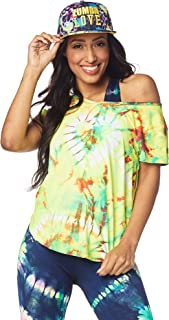 Zumba Women's Graphic Design Athletic Shirt Workout Tops Burnout Tees For Women