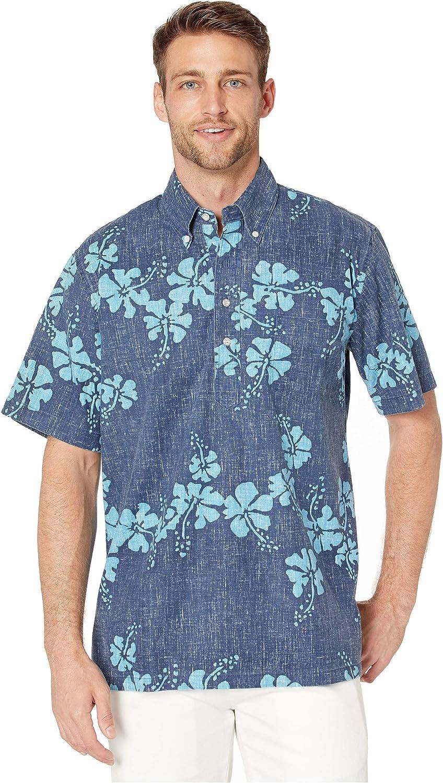 Reyn Spooner Men's 50th State Floral Hawaiian Aloha Shirt - Pullover