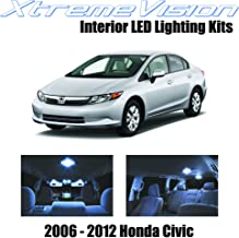 XtremeVision Interior LED for Honda Civic 2006-2012 (6 Pieces) Cool White Interior LED Kit + Installation Tool