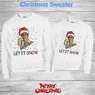 Scarface Let It Snow Men's Long Sleeve Shirt Boss Shirt Ugly Christmas Sweater Size S,M,L,XL,XXL,