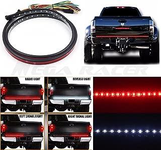 Mega Racer Universal 60 inch Truck SUV RV Tailgate Red White LED Left Right Signal Running Reverse Back Up Brake Light Strip Bar