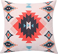 BreezyLife Aztec Throw Pillow Covers Geometric Decorative Pillow Cases Linen Square Cushion Covers for Sofa Couch Farmhouse Outdoor 18X18
