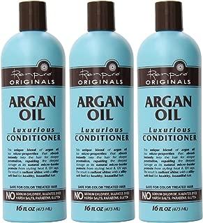 Renpure Originals Haircare - Argan Oil Luxurious Conditioner - Color Safe Formula - Net Wt. 16 FL OZ (473 mL) Per Bottle - Pack of 3