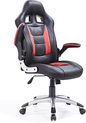 Adec - Silla giratoria Oficina, sillón Escritorio Gaming (Negro y Rojo)