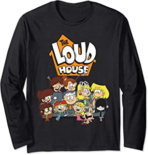The Loud House Loud Siblings on Couch Long Sleeve T-Shirt