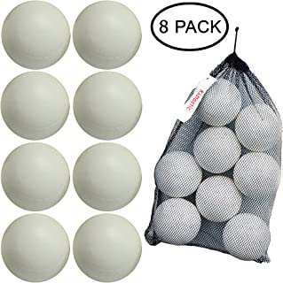 Kidtastic T-Ball Balls, 3.5-inch, Jumbo Size (8 Pack) with Durable Mesh Ball Bag, Great for T-Ball, Softball and Baseball Practice, Ages 18 Months and Up