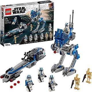 LEGO Star Wars 75280 Żołnierze klony z 501. legionu, fajna zabawka łącząca dynamikę i kreatywność (285 elementów)