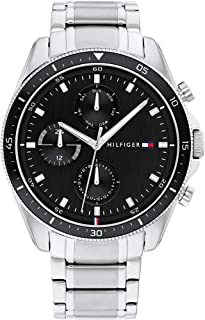 Tommy Hilfiger Stainless Steel Band Chronograph Analog Watch for Men - Silver
