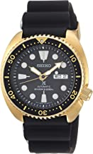 Seiko Men's Prospex Stainless Steel Automatic-self-Wind Watch with Silicone Strap, Black, 21 (Model: SRPC44)