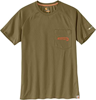 bec0ae118ca7 Carhartt Men s 103570 Force Fishing Graphic Pocket Short Sleeve T-Shirt