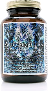 5D Ascension 55 Herb Blend 20X Strength Whole Body Wellness Formula (120 Veg Capsules) - Mood Boost, Mental Clarity, Anxiety and Depression Relief, Immune Boost, Weight Loss, and Fasting Support