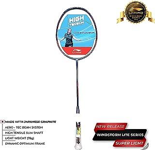 Li-Ning Windstorm 780 Carbon-Fiber Badminton Racquet (White/Purple)