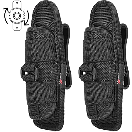 Rotatable Clip Flashlight Pouch Holster Torch Case Belt Cover Portable