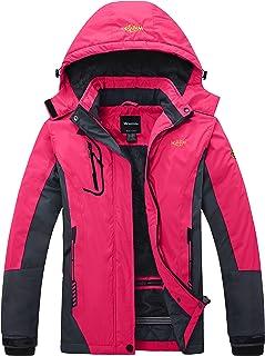 Women's Mountain Waterproof Ski Jacket Windproof Rain Jacket Winter Warm Snow Coat