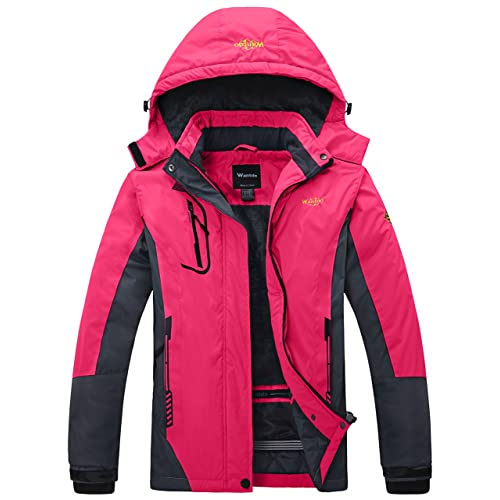 628e64de Wantdo Women's Mountain Waterproof Ski Jacket Windproof Rain Jacket