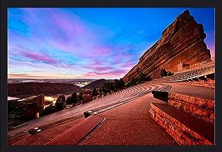 Denver, Colorado - Red Rocks Park - Photography A-93473 (36x24 Giclee Art Print, Gallery Framed, Black Wood)