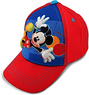 Toddler Boys Mickey Mouse Character 3D Pop Baseball Cap, Red/Blue, Age 2-4
