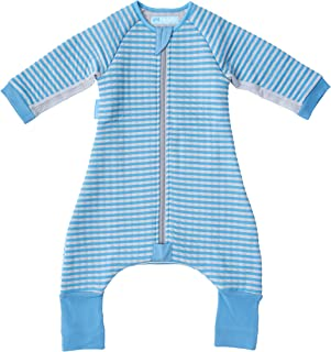 The Gro Company Groromper Blue Stripe Cosy Sleepsuit for 24-36 Month Babies, Blue, 11.35 Ounces