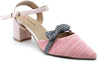 Shuberry SB-19050 Latest Footwear Collection, Comfortable & Fashionable Fabric in Grey & Peach Colour Sandal for Women & Girls