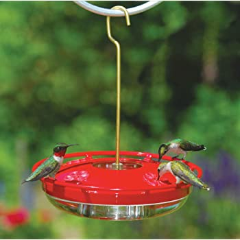 Aspects HummZinger HighView 12 Oz Hanging Hummingbird Feeder - 429, Red