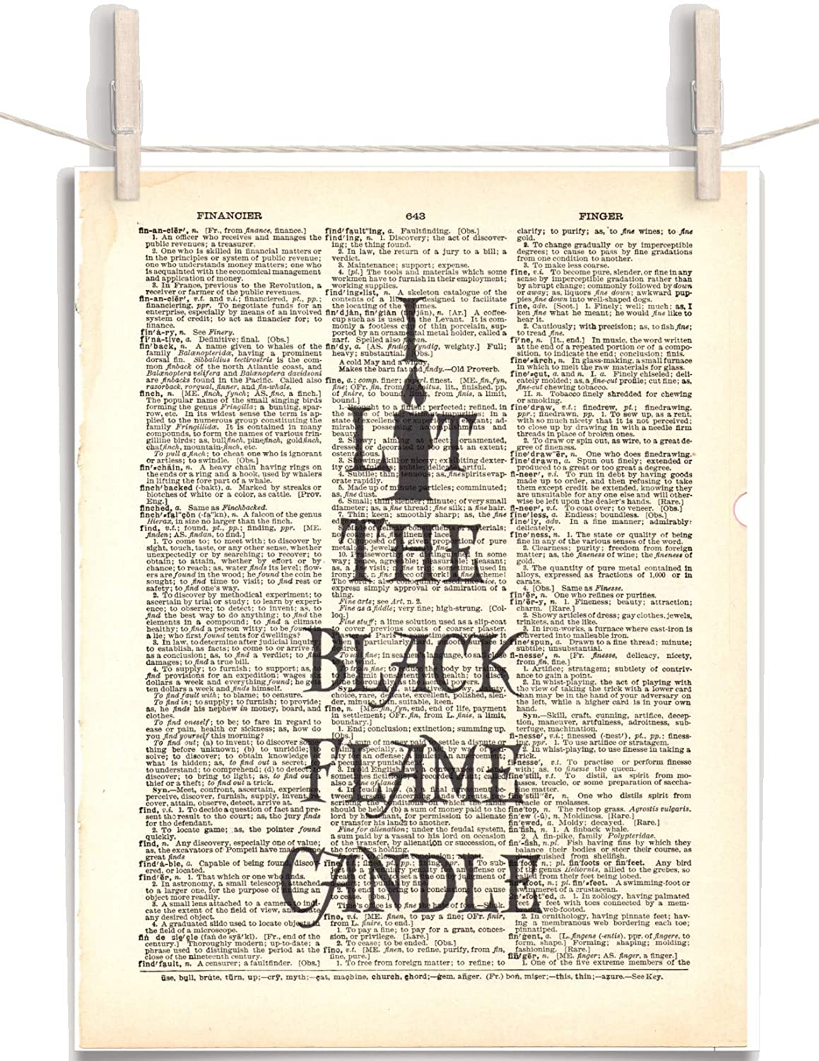 Hocus Pocus I 70% OFF Outlet Lit The Black Flame Directly managed store Candle 8.5 Vintage Dictio 11 x