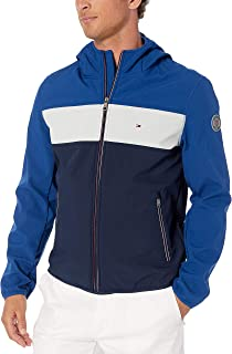 Men's Lightweight Water Resistant Breathable Hooded Performance Softshell Jacket