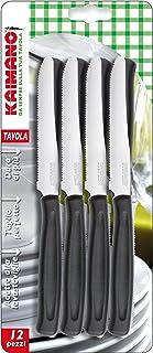 Kaimano KDN041512N Set de 12 Couteau de Table, Acier Inoxydable, Noir, 28 x 10 x 2 cm