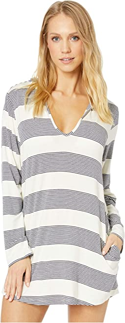 Fresh Prints Hoodie Tunic Cover-Up with Pockets