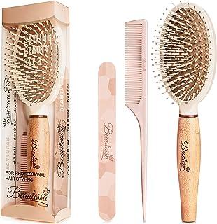 مجموعه 3 قطعه | برس مو موهای مرطوب و خشک | شانه مو برای حجم و سبک اضافی | پرونده ناخن دو طرفه | مناسب برای خانمها و آقایان | هدیه ایده آل