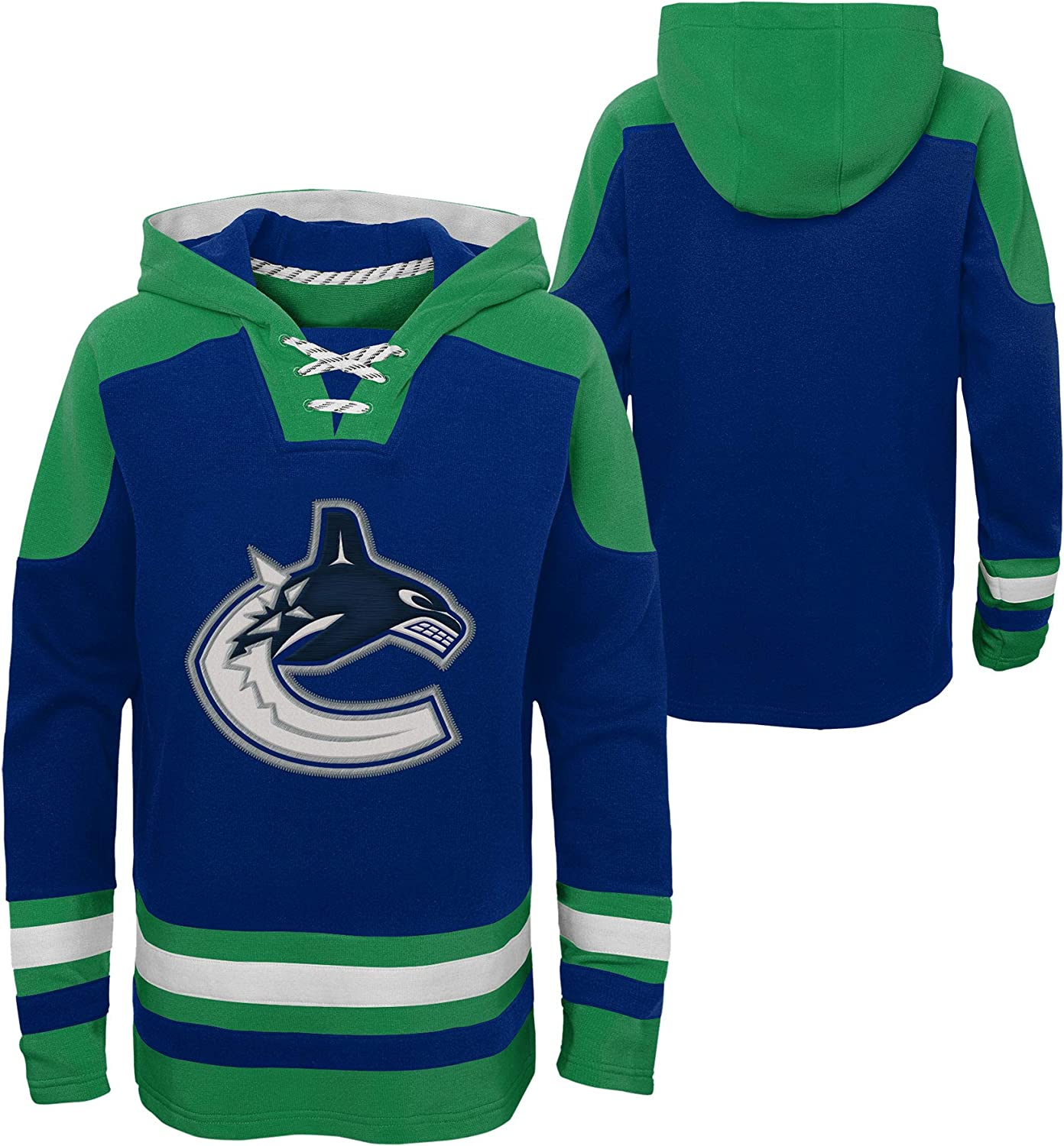 Outerstuff Vancouver Canucks Youth Ageless Must-Have Pullover Fleece Hoodie
