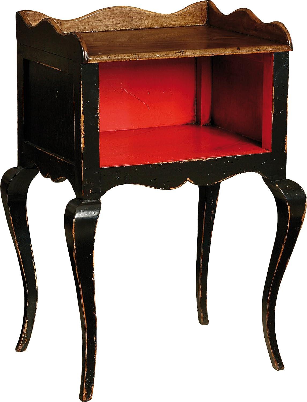 Destock Meubles Nachttisch schwarz 1Hundehütte 1Tablett Füe geschwungenen