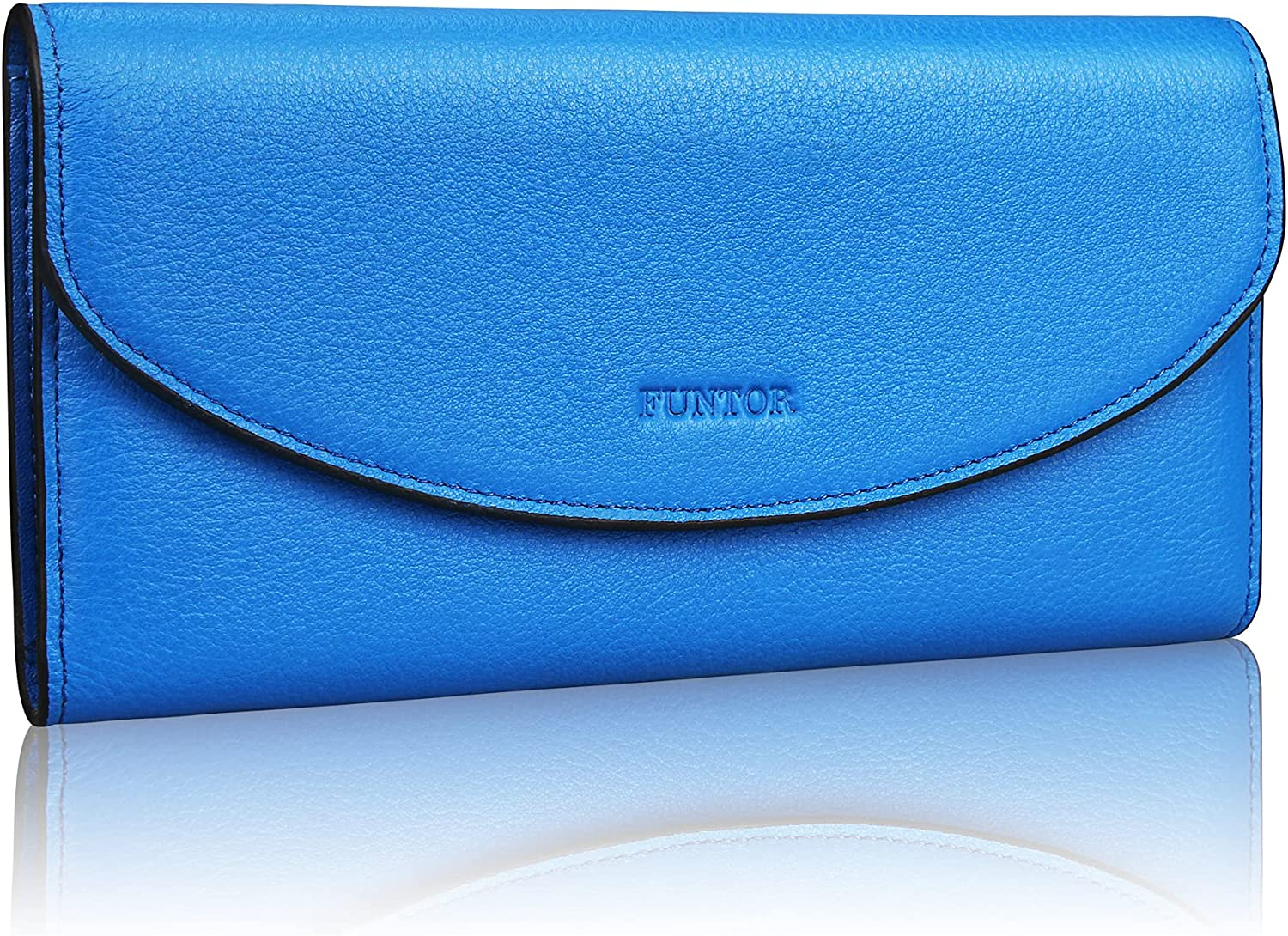 Bargain sale FT FUNTOR Trifold Wallets for Women L RFID with Blocking OFFer Leather