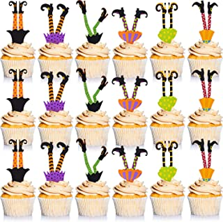 Halloween Cupcake Toppers Halloween Props Witch's Boot Cupcake Decorations for Party Favors Cake Party Supplies Decoration...
