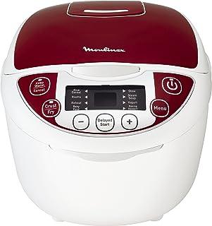 Moulinex MK705111 olla multi-cocción 5 L 750 W Rojo - Ollas multi-cocción (5 L, 750 W, 24 h, Rojo, De plástico, LCD)
