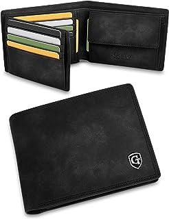 GenTo® Manhattan Protección RFID y NFC - Billetera de Hombre con Compartimento para Monedas - Cartera espaciosa - Cartera ...